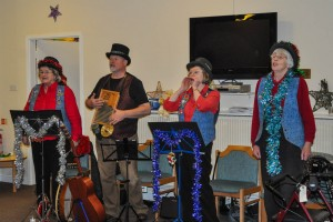 Pandemonium entertain the guests at Wantage Health and Wellbeing Centre